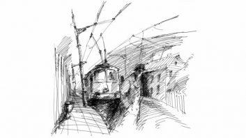 Троллейбус от Первой Градской
